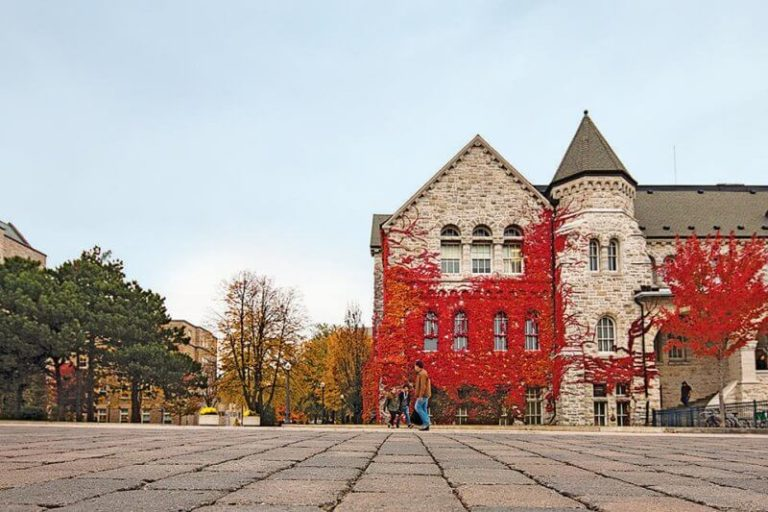 Queen's University campus in the Fall term.